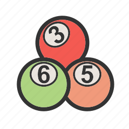 balls, green, indoor, snooker, sport, table, white icon
