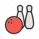 play, ball, bowling, pins, sport, throw