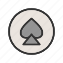 card, face, fun, game, playing, set, spade icon