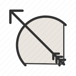 archer, archery, arrow, bow, shoot, target icon