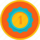 achievement, award, badge, best, first, gold, medal, prize, reward, trophy, win, winner icon