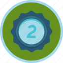 achievement, award, badge, prize, second, silver icon