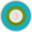 achievement, award, badge, bronze, gamification, medal, reward, third, trophy, winner icon