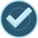 accept, achievement, badge, check, mark, ok, silver, success, tick, valid, yes icon