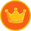 achievement, award, crown, gamification, gold, premium, reward, trophy, winner icon