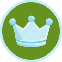 achievement, crown, premium, royal, silver, trophy icon