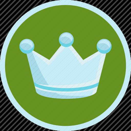 achievement, crown, premium, royal, silver, trophy icon