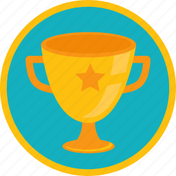 achievement, award, badge, bowl, cup, first, gamification, gold, golden, one, place, prize, star, trophy, win, winner icon