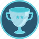 achievement, award, bowl, cup, gamification, prize, second, silver, star, trophy, two, win, winner icon