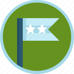 flag, second, silver icon
