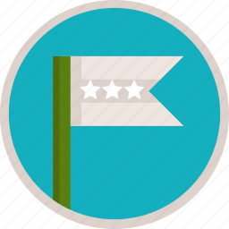 bronze, flag, third icon