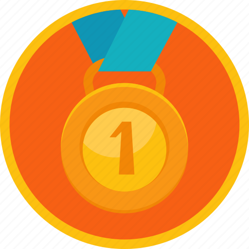 achievement, award, badge, best, first, gamification, gold, medal, prize, reward, ribbon, trophy, victory, win, winner icon