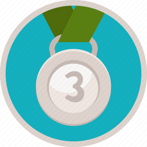 achievement, award, badge, bronze, gamification, medal, prize, reward, third, trophy icon