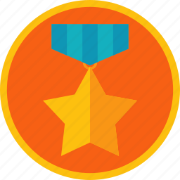 achievement, award, best, gamification, gold, medal, prize, star, win icon