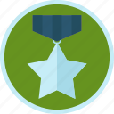 star, medal, silver, trophy, badge, achievement