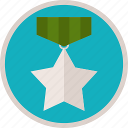 achievement, badge, best, bronze, gamification, medal, star, trophy, win icon