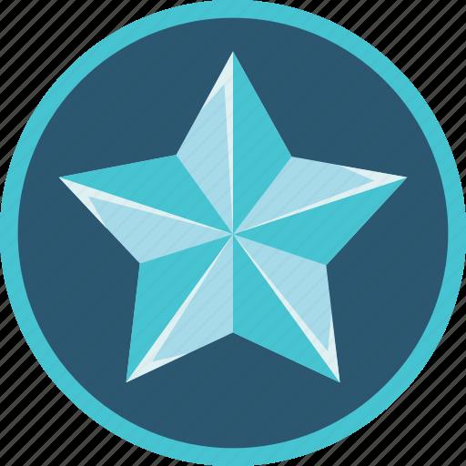 achievement, badge, silver, star icon