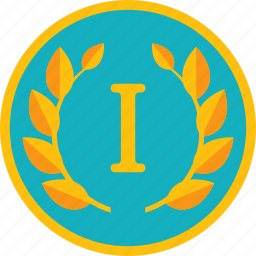 achievement, award, badge, best, first, gamification, gold, golden, win, winner, wreath icon