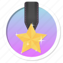 achievement, acknowledge, acknowledgement, award, badge, best, challenge, conquest, first, game, gamification, gold, golden star, mayor, medal, praise, premium, prize, proof, rank, ranking, reward, star, trophy, victory, win, winner icon