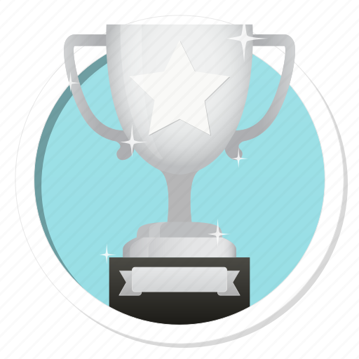 achievement, acknowledge, acknowledgement, award, badge, best, challenge, conquest, cup, game, gamification, hero, member, membership, praise, premium, prize, quality, rank, ranking, reward, second, silver, silver cup, star, subscription, trophy, victory, win, winner icon