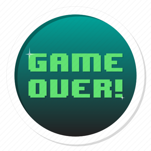 badge, death, die, end, finish, game, game over, gamer, gamification, lose, loser, play, rip, win icon