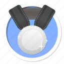 achievement, acknowledge, acknowledgement, award, badge, best, challenge, conquest, game, gamification, medal, member, membership, praise, premium, prize, proof, rank, ranking, reward, second, silver, silver medal, subscription, trophy, victory, win, winner icon