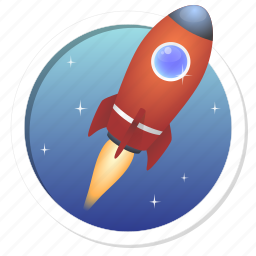 advanced, best, fast, fire, fly, fun, game, gamification, launch, missile, power, progress, rocket, rush, satellite, scape, shuttle, sky, space, spaceship, speed, stars, technology, top, up, upgrade icon