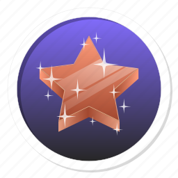 achievement, acknowledge, acknowledgement, award, badge, best, bronze, bronze star, challenge, conquest, game, gamification, medal, member, membership, praise, premium, prize, proof, rank, ranking, reward, subscription, third, trophy, victory, win, winner icon