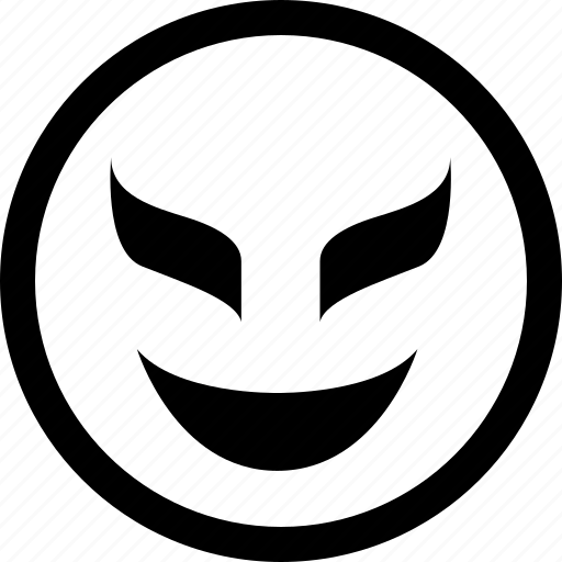 evil, gaming, smile icon
