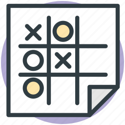 entertainment, noughts and crosses, paper pencil game, tic tac toe, xs and os icon