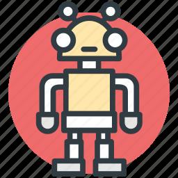 advanced technology, bionic robot, mechanical man, robot, robotic machine icon