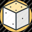 box, cube, element, hollow cube, ui icon