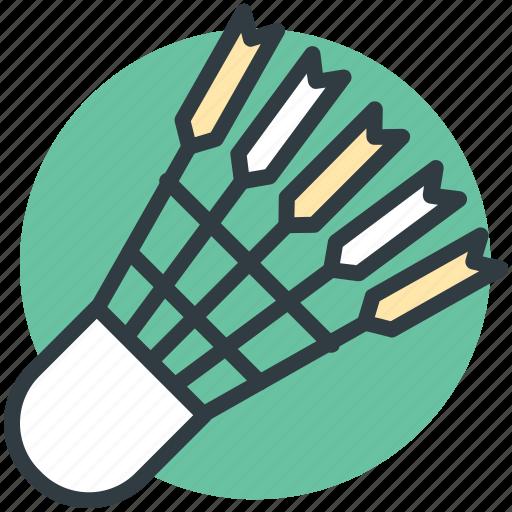 badminton, badminton birdie, feather shuttlecock, shuttlecock, sports equipment icon