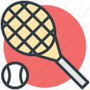 racket, sports, squash racket, tennis ball, tennis racket icon