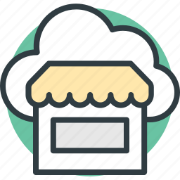 building, market stand, marketplace, shop, store icon