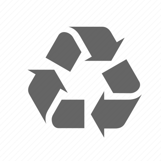 arrows, conservation, conversion, raw material, recycling, secondary, triangle icon