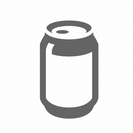 aluminum, can, disposal, garbage, recycle, rubbish, waste icon