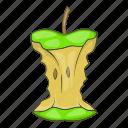 apple, fruit, garbage, stump icon