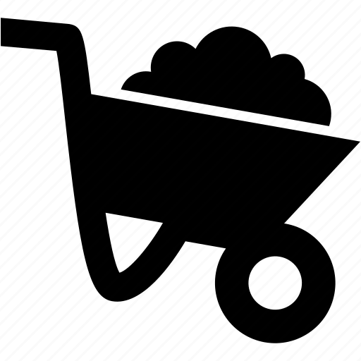 cart, gardening, soil, trolley, working icon