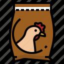 animal, chicken, farm, feed, feeding, food