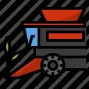 corn, farm, harvest, harvester, machine, truck, vehicle