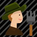 avatar, farmer, gardening, labour, man, user
