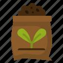 fertilizer, gardening, harvest, pack, plant, seed, soil