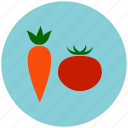 carrot, crop, food, garden, healthy, tomato, vegetable icon