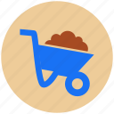 cart, construction, tool, trolley icon