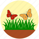 butterfly, eco, ecology, garden, grass, nature, spring icon