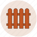 fence, picket fence, protection, railing icon