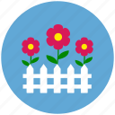 flowers, garden, nature, picket fence, protection