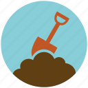 construction, garden, gardening, shovel, tool icon