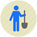 farmer, garden, gardening, shovel, tool, tools icon
